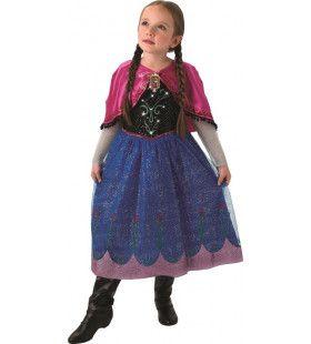 Glitteren In De Sneeuw Anna Frozen Meisje Kostuum