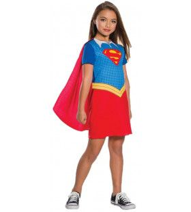 Superdupersterke Supergirl Meisje Kostuum