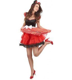 Rock N Roll Dansende Minnie Mouse Vrouw Kostuum