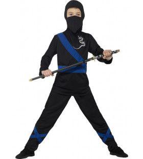 Flitsende Zwaardkunstenaar Ninja Jongen Kostuum