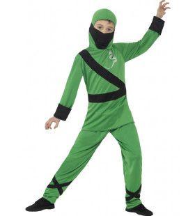 Groene Draak Ninja Jongen Kostuum