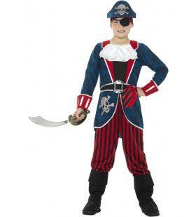 Captain Skull Zeerover Jongen Kostuum