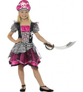 Roze Woeste Zee Piraat Meisje Kostuum