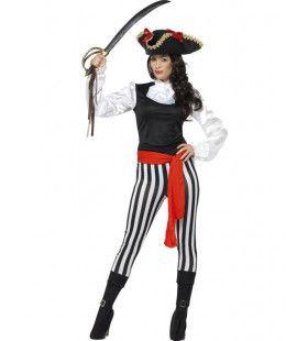 Meedogenloze Enter Piraat Vrouw Kostuum