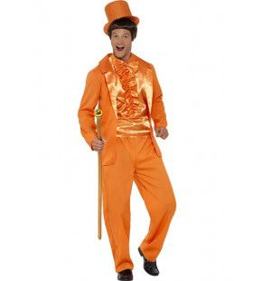 Knaloranje Feest Smoking Man Kostuum