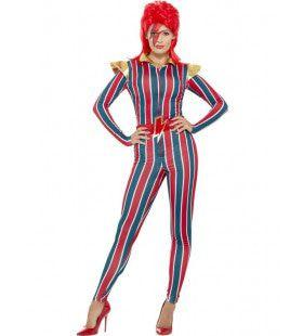 Miss Bowie Space Oddity Vrouw Kostuum