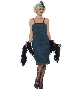 Lang Joan Crawford Charleston Vrouw Kostuum