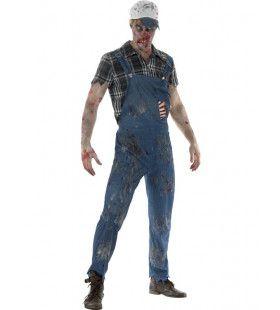 Hank Hillbilly Zombie Amerika Man Kostuum