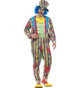 Opgelapte Zombie Clown Man Kostuum