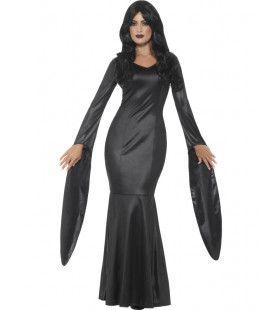 Onsterfelijke Zwarte Vampier Vrouw Kostuum
