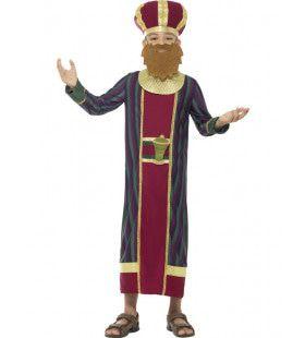 Koning Balthazar Bethlehem Jongen Kostuum