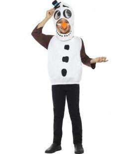 Geinige Koude Sneeuwpop Jongen Kostuum