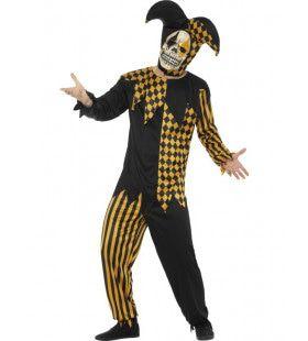 Naargeestige Halloween Hofnar Man Kostuum
