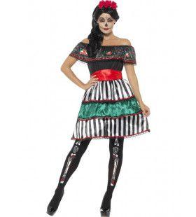 Mexicaans Dag Van De Doden Vrouw Kostuum