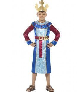 Koning Melchior Bethlehem Jongen Kostuum