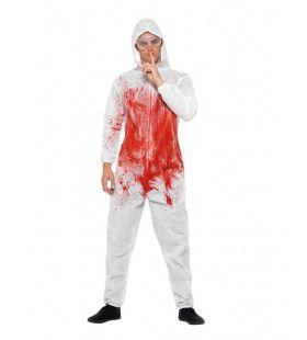 Csi Bloederige Forensische Onderzoeker Man Kostuum