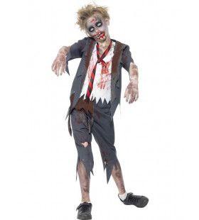 Afzichtelijk Zombie School Uniform Jongen Kostuum