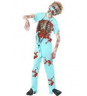 Oeps Daar Schiet Mijn Scalpel Uit Zombie Chirurg Jongen Kostuum