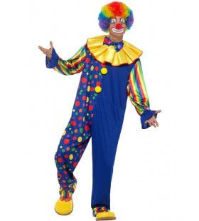 Circus Clown Vol Vrolijke Stippen Man Kostuum