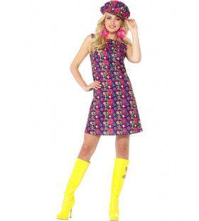 Dusty Jaren 60 Hippie Vrouw Kostuum