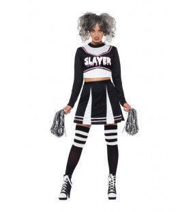 Moordzuchtige Griezel Cheerleader Vrouw Kostuum