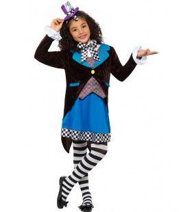 Kleine Miss Hatter Uit Wonderland Meisje Kostuum