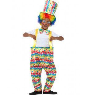 Klein Maar Grappig Clown Jongen Kostuum