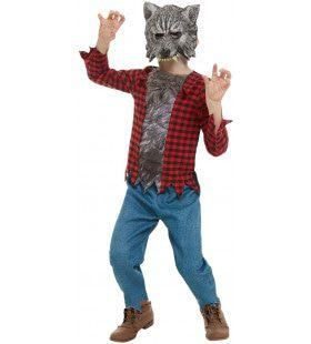 Hongerige Weerwolf Volle Maan Jongen Kostuum