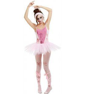 Zombie Ballerina Jaloerse Dansgroep Vrouw Kostuum