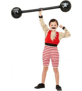 Sterke Man Circus Artiest Jongen Kostuum