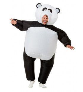 Opblaasbare Giga Panda Man Kostuum