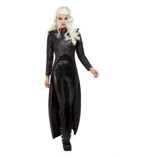 Lederen Strijdster Koningin Vrouw Kostuum