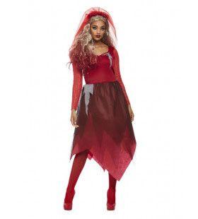 Rode Kerkhof Schoonheid Vrouw Kostuum