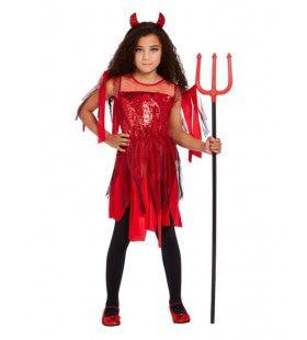 Rode Duivel Meisje Kostuum