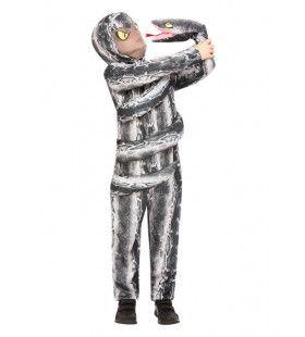 Omwikkeld Door Een Slang Kind Kostuum