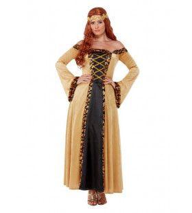 Luxe Middeleeuwse Hofdame Marian Vrouw Kostuum