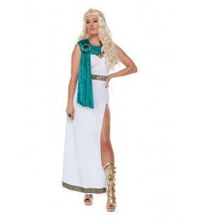 Romeinse Azuren Koningin Vrouw Kostuum
