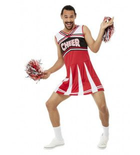 Travestiet Cheerleader Kostuum Man