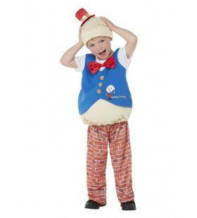 Van De Muur Afgevallen Humpty Dumpty Ei Kind Kind Kostuum
