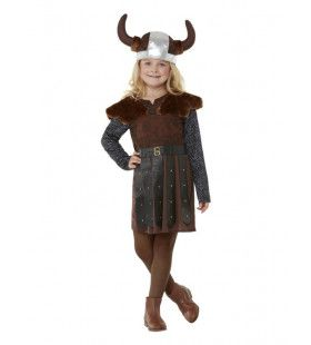 Gyda De Dappere Viking Meisje Kostuum
