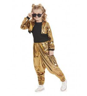Jaren 80 Rapper Hammer Time Meisje Kostuum