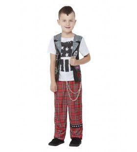 Jonge Punker Jongen Kostuum
