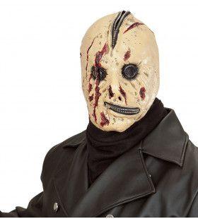 Vervormd Gezicht Masker Bloederige Rits