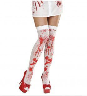 Bloederige Zombie Kniekousen Bloed