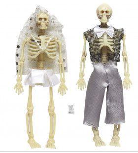 Halloween Deco Skelet Echtpaar, 15cm