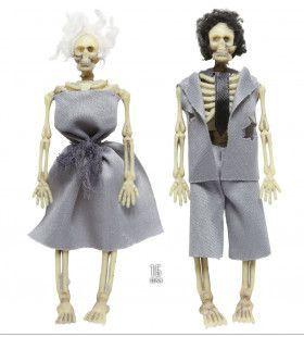 Halloween Deco Gekleed Skelet Echtpaar, 15cm