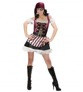 Verzorgd Piratenmeisje Vrouw Kostuum