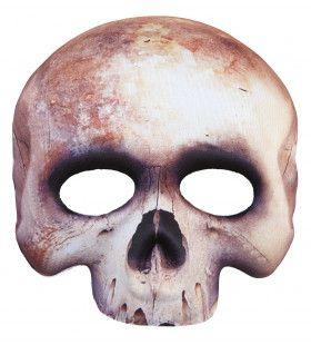 Halloween Halfmask Kinloos Schedelmasker