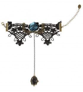 Chique Armband Gothic Met Zwarte Steen