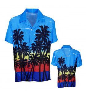 Caribbean Sunrise Hawaiishirt Palm Beach Man